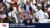 """Wimbledon : """"Une des premières fois où je n'ai pas eu une opportunité"""" souligne Tsonga"""