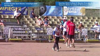 Barrages M1, France Doubles, Compiègne 2019