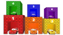 Learn Colors With Disney Lightning McQueen Cars - Number Garage For KID Children Nursery Rhymes