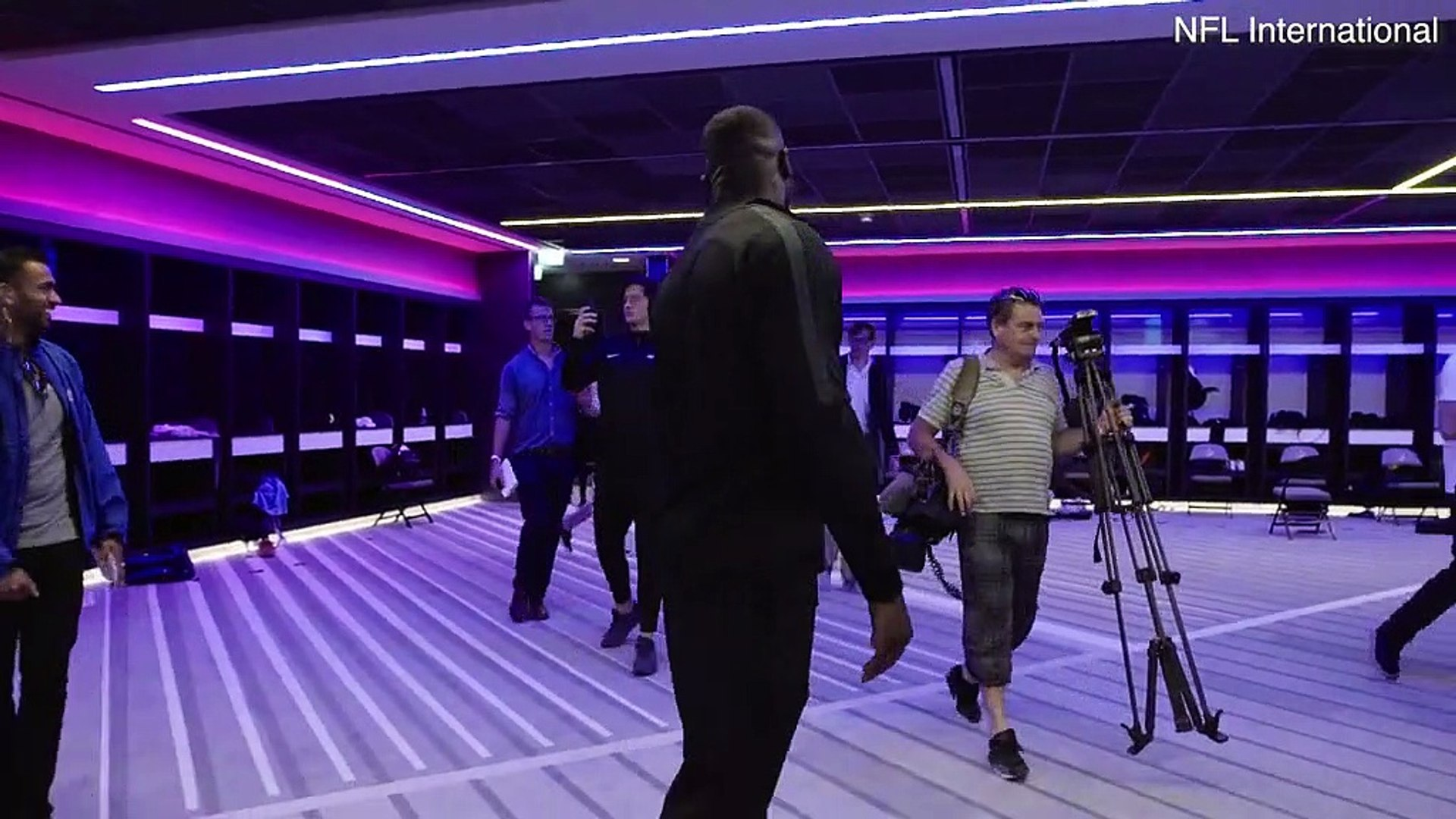Tottenham Hotspur Changing Room Transformed For Nfl London Video Dailymotion