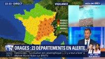 Orages: 23 départements en vigilance orange