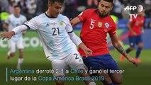 Con Messi expulsado, Argentina se reivindica contra Chile y es tercera en la Copa América