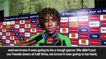 (Subtitled) Iwobi and Ighalo react to Nigeria's win against Cameroon in AFCON last 16
