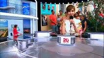 Les images du direct cahotique, hier soir, dans le journal de 20h de  France 2 avec Virginie Lemoine depuis le Festival d'Avignon