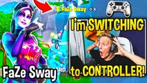 TFUE *SHOCKED* Spectating FaZe Sway!.. Tfue WANTS To Use CONTROLLER after THIS!