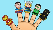 Superheroes Finger Family Songs Collection - Ironman, Superman, Batman, Thor, Hulk Face Painting