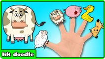 Animal Finger Family Song - Drawing Finger Family Nursery Rhymes for Children - HooplaKidz Doodle