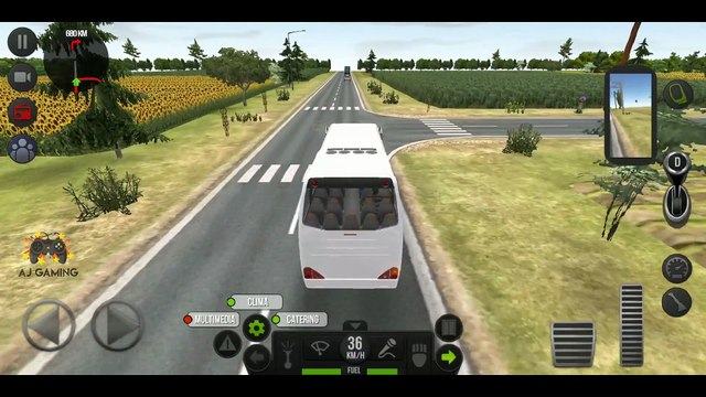 Bus Simulator : Ultimate CRAZY TRAFFIC Gameplay #2 | Android Gameplay | AJ GAMING
