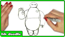 How To Draw BAYMAX from Disney's BIG HERO 6 - Easy Superhero Step by Step Drawing Tutorial for Kids
