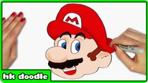 How To Draw MARIO from SUPER MARIO BROS - Step by Step Drawing Tutorial