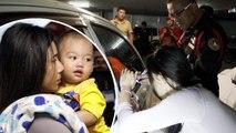 Sauvetage d'un garçon d'un an enfermé dans une voiture