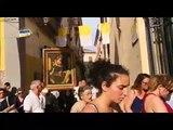 Aversa (CE) - Licona della Madonna di Pompei nella chiesa di San Francesco (05.07.19)