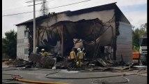 Ben-Ahin: incendie généralisé d'un entrepôt