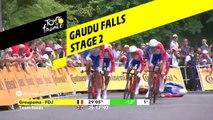 Chute de David Gaudu / Gaudu Falls - Étape 2 / Stage 2 - Tour de France 2019