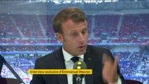 """#JO2024 à Paris """"Je veux qu'on mobilise le maximum d'argent privé"""" affirme Emmanuel Macron qui regrette que Total se soit désengagé du financement des jeux, qui """"devront être exemplaires sur le plan de l'environnement et du point de vue de l'inclusion"""""""