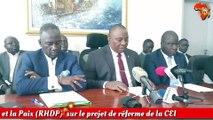 Point de presse du Rassemblement des Houphouétistes pour la Démocratie et la Paix (RHDP)  sur le projet de réforme de la CEI
