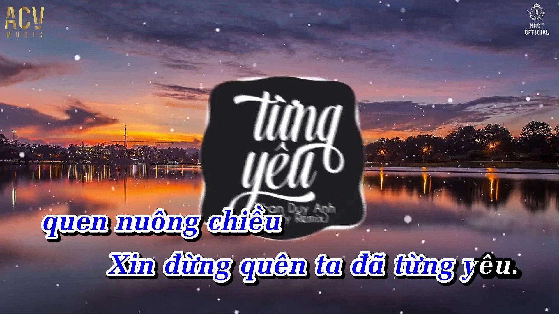 [Karaoke] Từng Yêu (Andy Remix) - Phan Duy Anh [Beat]