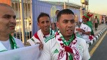 Supporters algériens de Baraki avant la Guinée
