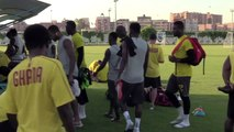 Ghana and Tunisia train ahead of their Africa Cup of Nations round of 16 match