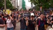 Policía carga en Hong Kong contra manifestantes tras nueva protesta masiva