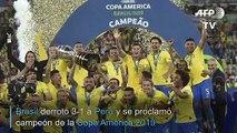 Brasil derrota 3-1 a Perú y conquista su novena Copa América