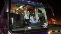Le bus des Verts après la rencontre face à la Guinée !