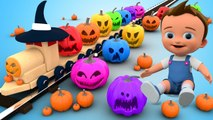 Halloween Pumpkins Wooden Toy Train   Learn Colors for Children Baby Kids Toddlers Educational