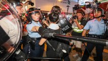 Protesters and police clash at night in Mong Kok after mass rally against Hong Kong extradition bill