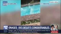 Les images très impressionnantes des averses de grêle dans le Rhône et la Loire