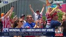 La joie des supporters américains rassemblés à New York après la victoire des États-Unis au Mondial féminin