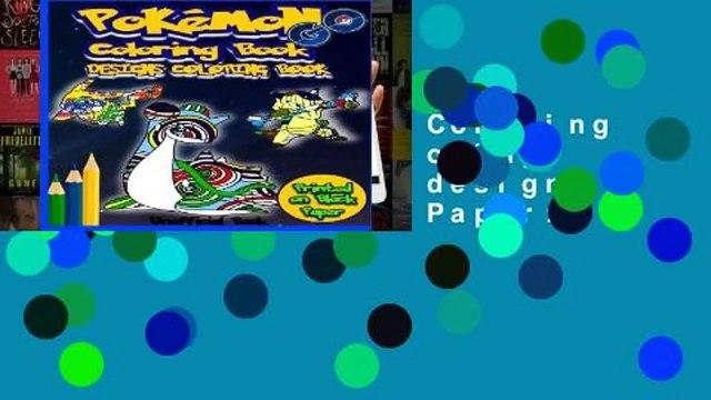 L.I.S Pokemon Go Coloring Book: Designs Coloring Book: 40 Pokemon designs printed on Black Paper: