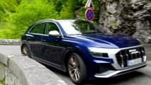 The new Audi SQ8 in Navarra Blue Driving Video
