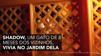 O vídeo revoltante de uma mulher que joga o gato do vizinho a mais de 7 metros