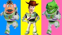 Toy Story 4 Wrong Heads Game with Sheriff Woody and Buzz Lightyear