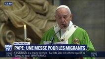 """""""Les migrants sont avant tout des êtres humains."""" Le Pape défend à nouveau leur accueil lors d'une messe"""