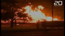 Des millions de litres de bourbon partent en fumée dans un incendie