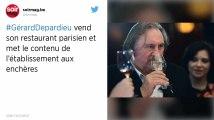 Gérard Depardieu a vendu son restaurant, tout l'équipement et les vins mis aux enchères