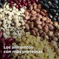 Los alimentos con más proteínas