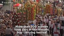 Watch: Tomar's historic Tray Festival takes place in Portugal