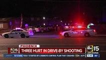 Three hurt in Phoenix drive-by shooting