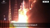 À Kourou, Ariane 5 assure avec succès son 100ème vol