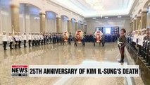 N. Korean leader and citizens pay tribute to Kim Il-sung