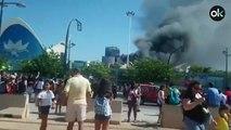 Incendio en el Oceanografic de Valencia