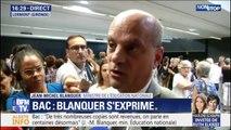 """Bac: pour Jean-Michel Blanquer, """"on ne peut pas créer le désordre et crier au désordre"""""""