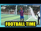 Ranbir Kapoor plays football with his team