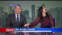 Tremblement de terre en direct à la TV dans ce studio, les animateurs sont pétrifiés