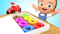 Little Baby Eating Color Donuts to Learn Colors for Children - 3D Kids Learning Videos