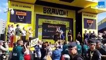 Tour de France : maillot jaune et victoire d'étape pour le Français Julian Alaphilippe à Épernay
