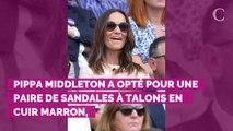 PHOTOS. Wimbledon 2019 : Pippa Middleton, élégante en rose pou...