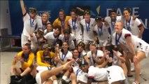 La selección estadounidense de fútbol femenino celebra por todo lo alto la consecución del Mundial